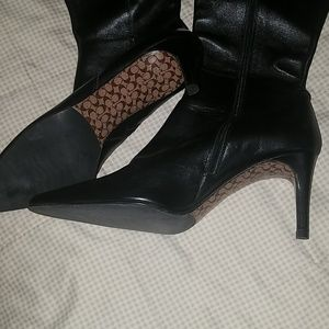 Women's Leather Coach Boots